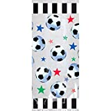 Amscan Party Ready Stars & Soccer Balls Large Favor Bags, Multicolor, 11 1/2