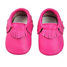 Changeshopping(TM) Baby Tassel Soft Sole Cow Leather Shoes Infant Boy Girl Toddler Moccasin