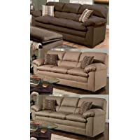 Simmons Upholstery 3685-03 Lakewood Cappuccino Sofa