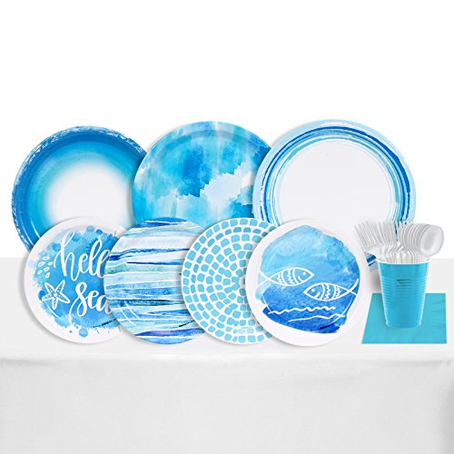 Coastal Sea 32 Guest Party Supplies Pack
