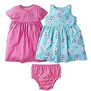 Gerber Baby Girls 3 Piece Dress Set, Daisies, 6-9 Months