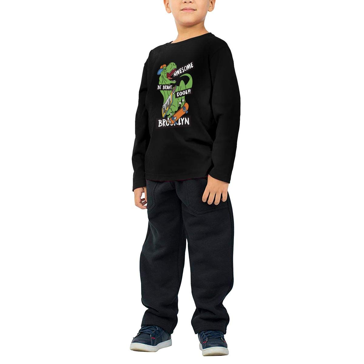 Boys Girls HIGASQ Unisex Baby Awesome Cool Dinosaur Toddlers Long Sleeve Round Neck Casual Pullover T Shirt for Kid