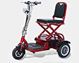 Folding electric tricycle scooter tricycle for the disabled elderly+20AH lead acid battery