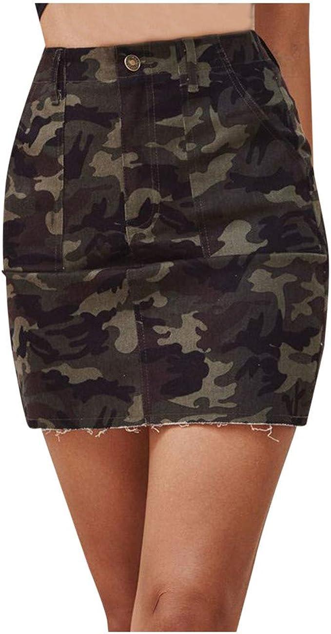 Shenye Falda de Cintura Alta para Mujer, Falda de otoño, Falda ...