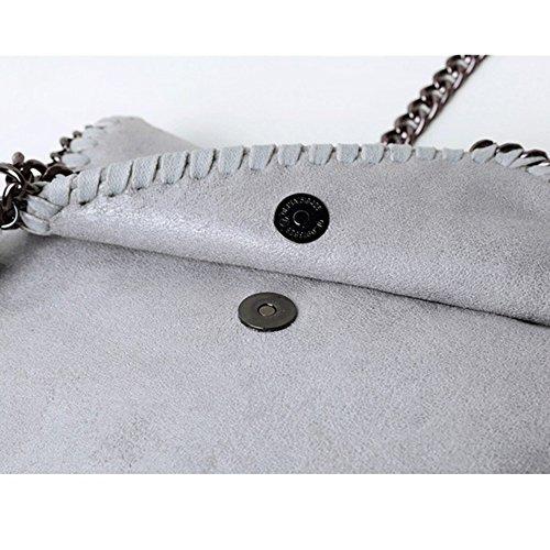 Grey a Borsa Small a Casual Fashion per ragazze Messenger tracolla Grey Wild Borse donne catena w4OwdX