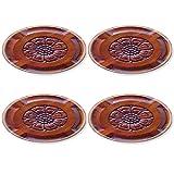 Liili Round Coasters Teak wood craving Thai style 28622040