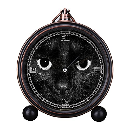 Shrek Alarm Clock - GIRLSIGHT Vintage Retro Living Room Decorative Non-Ticking, HD Glass Lens, Quartz, Analog Large Numerals Bedside Table Desk Alarm Clock Cute Cat Dog Series -485.Shrek