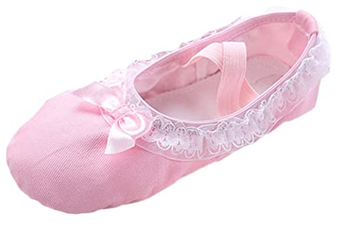 Scothen Zapatillas de Ballet Pointe Zapatillas de Ballet Suaves Zapatillas de Baile de Cuero con Suela