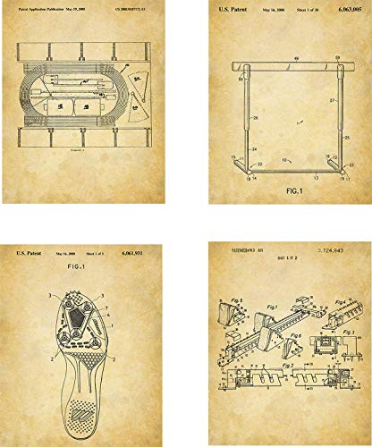 Track and Field Patent Wall Art Prints - set of Four (8x10) Unframed - wall art decor for track athletes