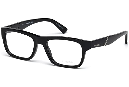Amazon.com: Diesel DL5240 Eyeglass Frames - Shiny Black Frame, 51 mm ...