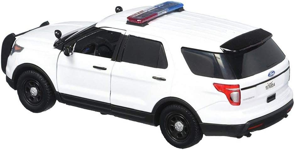 White 79535-1//24 Scale Diecast Model Toy Car Motormax 2015 Ford Unmarked Police Interceptor Utility w//Lights and Sounds