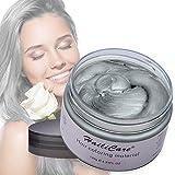 HailiCare Silver Gray Temporary Hair Dye Wax 4.23 oz, Silver Ash Hair Wax, Natural Matte Hairstyle for Party, Cosplay (Silver Gray)