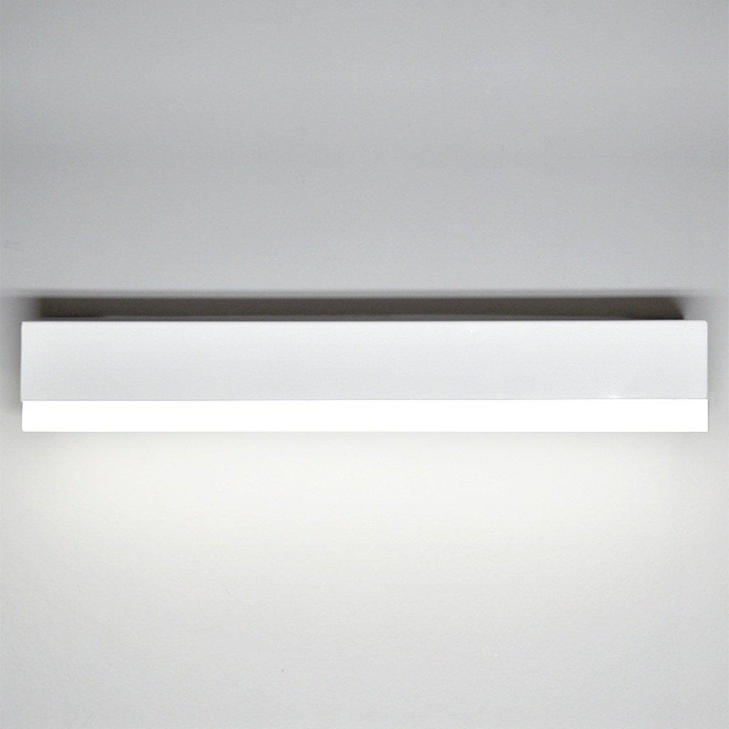 JJJJD LED-einfache Make-up Lampe Badezimmer Wandleuchte, Farbe Alloy + Acryl, Weiß (Größe   41CM7CM5.5CM 12W)