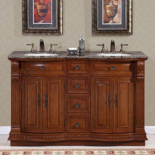 Monica 55 Double Sink Bathroom Vanity Set, Free-standing, Me