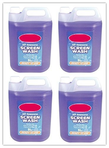 4 pack - Ready To Use Screen Wash 5 Litre (20L in Total)