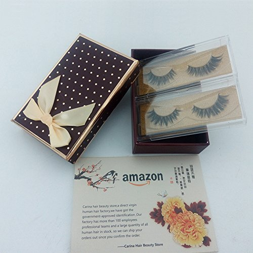 [Fake Eyelashes 3D Mink Fur False Eyelashes Thick Cross Style 2 Pairs Easy Eye Lashes For Makeup] (Wild Curl Black Wig)