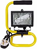 Status Portable Halogen Worklight with Metal Frame - Black/Yellow