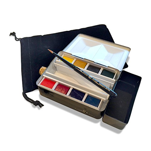 Field Artist Masters Watercolor Flask Palette - Complete Set