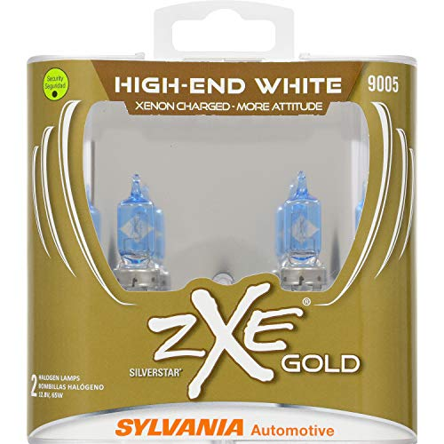 Headlights Halogen Sylvania (SYLVANIA - 9005 (HB3) SilverStar zXe GOLD High Performance Halogen Headlight Bulb - Bright White Light Output, Best HID Alternative, Xenon Charged Technology (Contains 2 Bulbs))