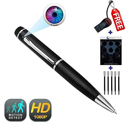 (Pen Camera GEAGLE 1080p HD Hidden Spy Camera Pen | External Memory | Motion Detection | Night Vision | + USB Card Reader + 5 Ink Refills)