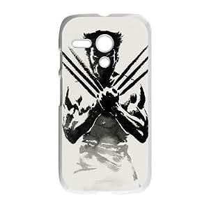 Motorola G Cell Phone Case White Wolverine SHY Cell Phone Case Durable Custom