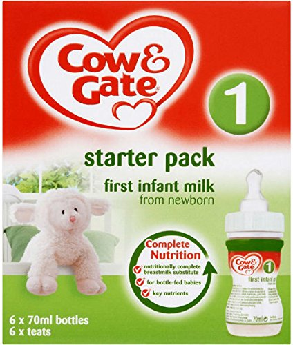 Cow Gate First Milk Liquid Starter Pack 70ml Pack Of 6 Amazon Co