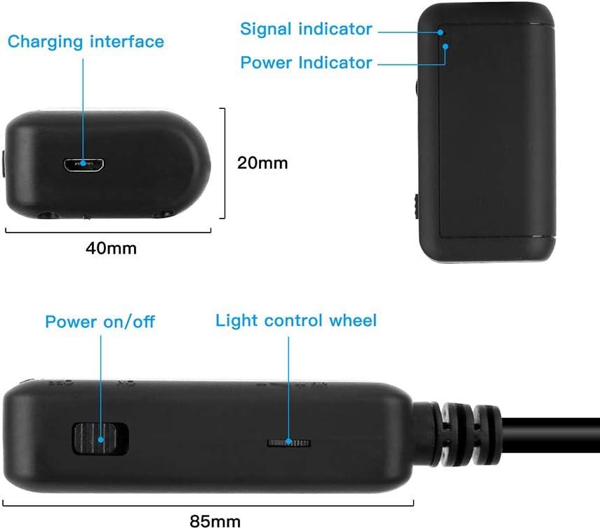 5 MP DDENDOCAM Telecamera a serpente fotocamera senza fili adatta per dispositivi Android iOS endoscopio WiFi 5,5 mm