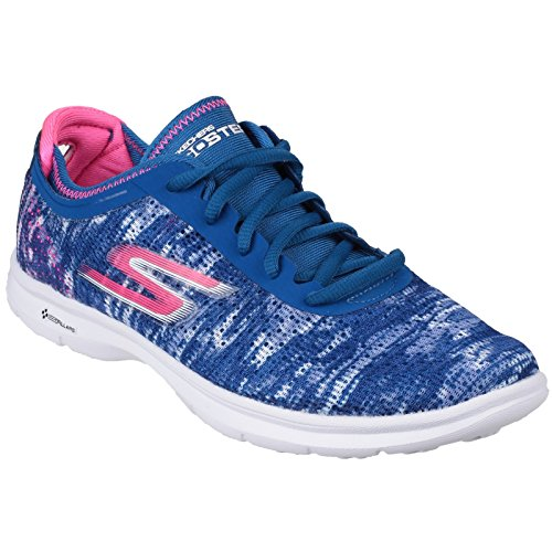 Skechers Womens/Ladies Go Step Lace Up Trainers/Sneakers Blue/Pink