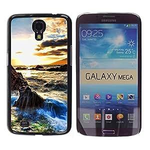 Paccase / SLIM PC / Aliminium Casa Carcasa Funda Case Cover - Sunset Beautiful Nature 29 - Samsung Galaxy Mega 6.3 I9200 SGH-i527