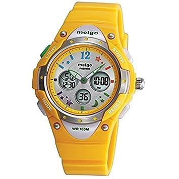 GamutTek PASNEW alta calidad a prueba de agua de 100 metros de hora dual unisex niños al aire libre reloj del deporte - amarillo: Amazon.es: Deportes y aire ...