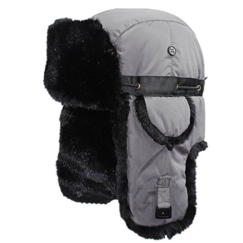 ce593fe53ccba5 Connectyle Unisex Faux Fur Lined Trooper Trapper Hat Warm Winter Hunting  Bomber Hats with Ear Flaps, 55 60cm, Light Gray - Buy Online in Oman.