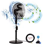 H&G lifestyles Outdoor misting Fans for patios Water Mister for a Cool Patio Breeze Connects Any Outdoor Fan to Convert misting Fan Turns Heat Down by 20 Degrees