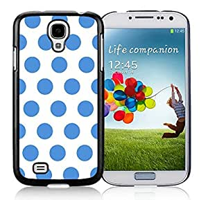BINGO discount Polka Dot White and Blue Samsung Galaxy S4 i9500 Case Black Cover