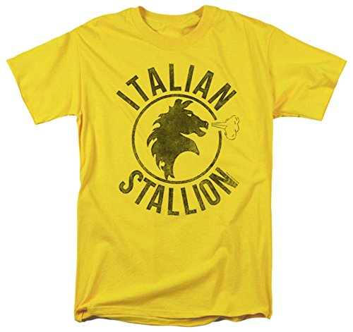 Rocky - Italian Stallion Horse Yellow T-Shirt