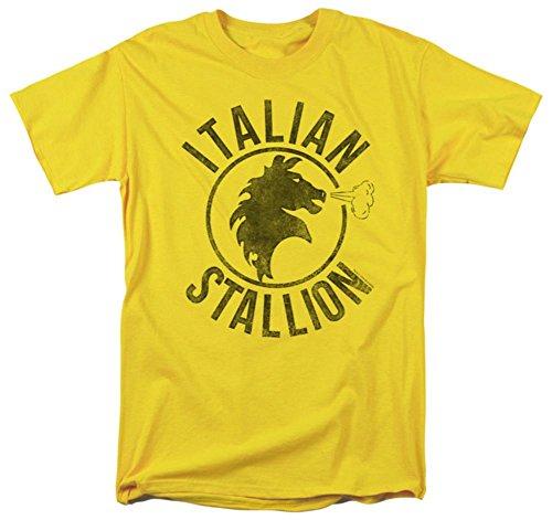 Rocky - Italian Stallion Horse Yellow T-Shirt