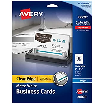 Amazon.com : Avery Ink-Jet Printer White Business Cards ...