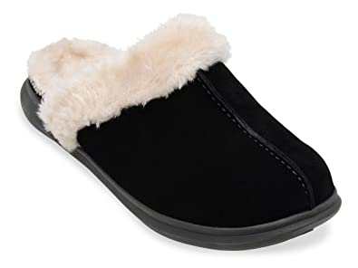 c7de2a363e7 Amazon.com  Spenco Women s Supreme Slide Slippers Black Suede 5   Headband  Bundle  Shoes