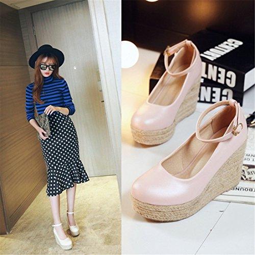 Señora DEDE Calzado Calzado de Casual Tejidos Zapatos Pink Sandalette RStpwnPqxw