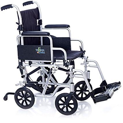 Teyder Silla de Ruedas Plegable de aluminio, Transformable ...