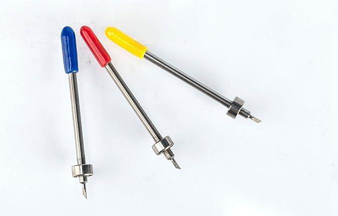 HUHAO 5PC/lot Cortador de plotter 30/45/60 Graphtec Craft Robo cuchillas de tungsteno cortador de plotter de vinilo con rodamiento: Amazon.es: Electrónica