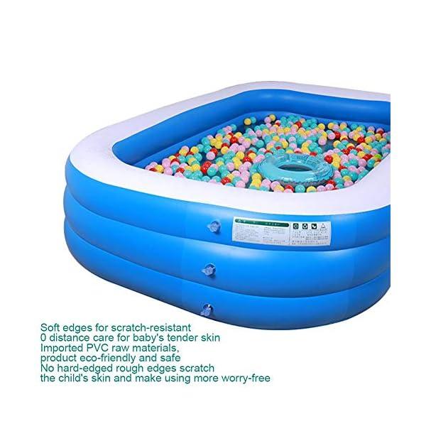 Bettying Piscina gonfiabile per bambini adulto, per esterni, giardino, cortile, estate, acqua, 1,2 m 3 Schichten 5 spesavip