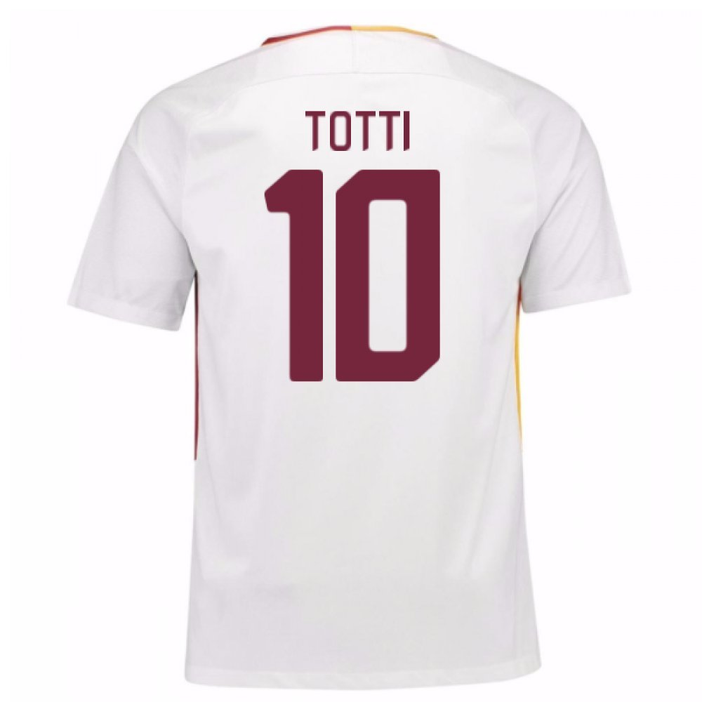 2017-18 Roma Away Football Soccer T-Shirt Trikot (Francesco Totti 10)
