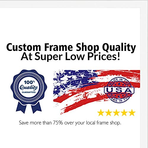 (Poster Palooza 28x36 Contemporary White Wood Picture Frame - UV Acrylic, Foam Board Backing, Hanging Hardware Included!)