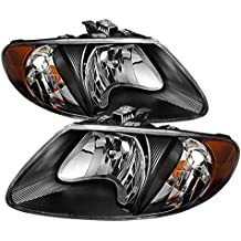 """Replacement Dodge Caravan & Grand Caravan/ Chrysler Town & Country (except '05-07 119"""""""" long wheel base)/ Chrysler Voyager & Grand Voyager Crystal Headlights with black housing"""