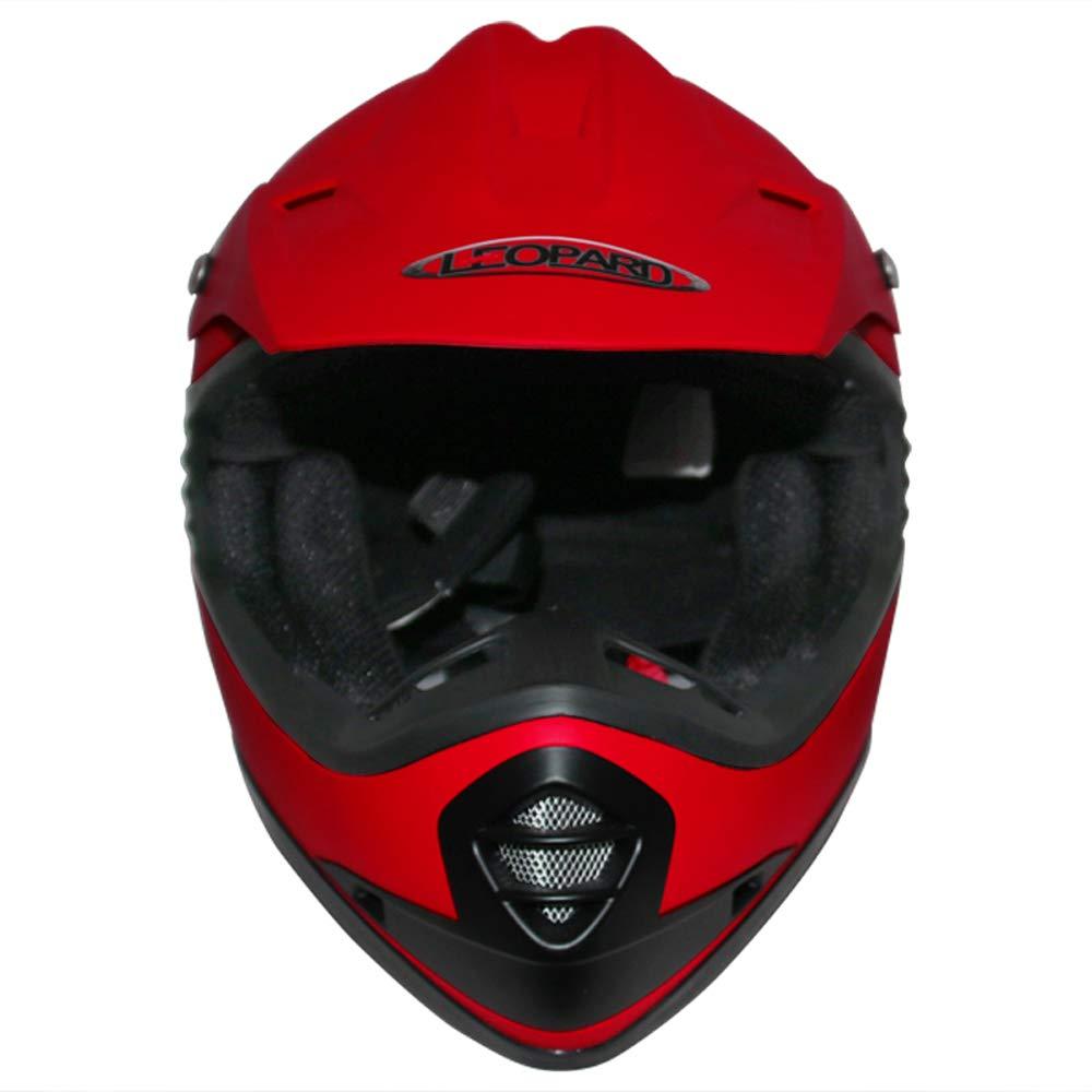 Leopard LEO-X15 Casques Motocross /& Gants denfants /& Lunettes pour Enfants 55cm Matt Rouge XL - Casque de Moto Bicyclette ATV ECE 22-05 Approbation