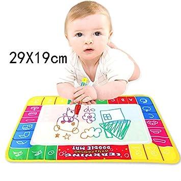 85d76f0616 Baby Lernspielzeug, 12shage Kids Baby Toddler Wasser Zeichnen Matte Toy mit  1 Stiftes, Aqua