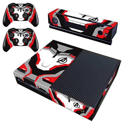Decal Moments Regular Xbox One Skin Set Vinyl Decal Skin Stickers Protective for Xbox One Console Kinect 2 Controllers Avengers (Kinect Marvel)