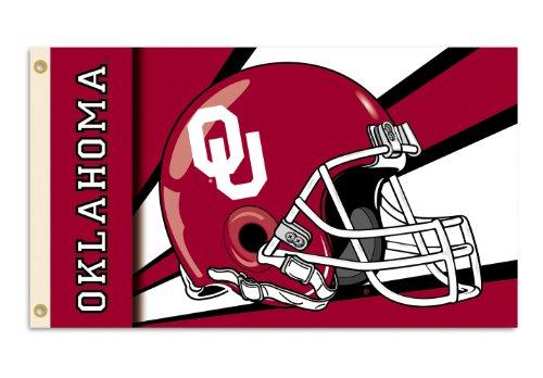 NCAA Oklahoma Sooners 3-by-5 Foot Flag with Grommets - Helmet Design