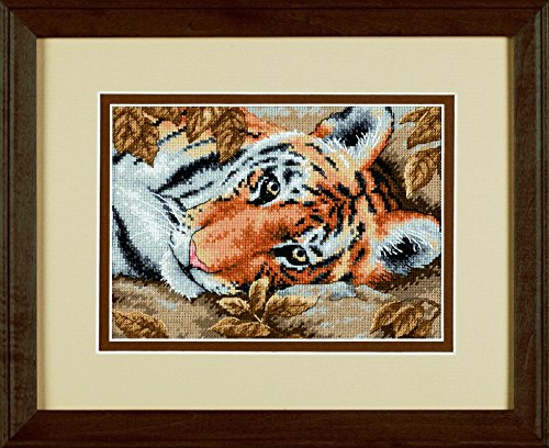 Beguiling Tiger - Dimensions Petite Counted Cross Stitch Kit Beguiling Tiger