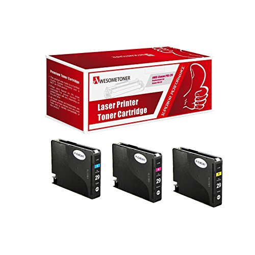 Price comparison product image AwesomeToner 3 PK PGI-29C PGI-29M PGI-29Y Compatible Ink cartridge for Canon PIXMA Pro1 High Yield C 230 M 281 Y 290 Pages